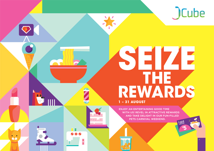 Singapore Shopping Mall – JCube August Rewards Campaign