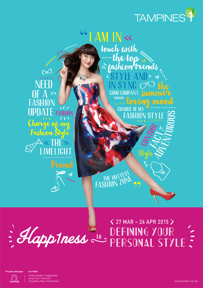 Singapore Shopping Mall – Tampines 1 Spring Summer Fashion Campaign